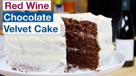 Red Wine Chocolate Velvet Cake Recipe