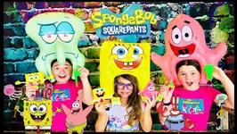 Spongebob Squarepants Slimeez w/ Nickelodeon Slime, Spongebob StretchPants, Spongeheads