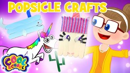 Popsicle Stick Crafts - Summer Crafts with Crafty Carol - Cartoons for Kids - Crafts for Kids