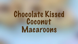 Chocolate Kissed Coconut Macaroons