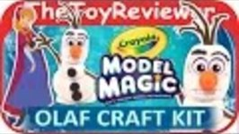 Disneys Frozen Olaf Craft Kit Crayola Model Magic Anna Paper Doll Tutorial by TheToyReviewer