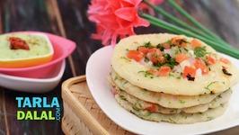 Onion Tomato - Rava Uttapa - South Indian Uttapa