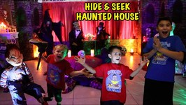 HIDE and SEEK in HAUNTED HOUSE - GUESS WHO I AM? - DEION'S PLAYTIME