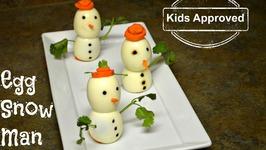 Egg Snow Man Innovative Kids Recipe