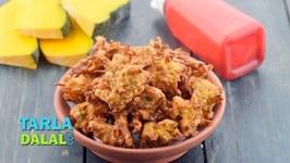 Pumpkin Pakoras - Kaddu Pakoda - Tea Snack