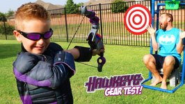 Hawkeye Bow Super Hero Gear Test And Bunch O Balloons Challenge