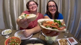 Homemade Pita Pockets Sandwiches / Gay Family Mukbang - Eating Show