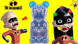 THE INCREDIBLES 2 DASH Gets Sick Turns into GIANT GUMMY BEAR and Violet Gets SKITTLES Chicken POX!