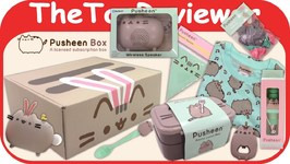 Spring 2017 Pusheen Subscription Box Lets Party Time Unboxing Toy Review