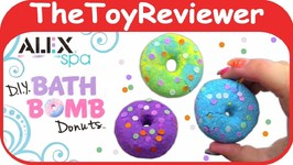 ALEX Spa DIY Bath Bomb Donuts Kit Create Make How To Make Unboxing Toy Review by TheToyReviewer