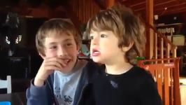2-Year-Old Isn't Impressed When He Discovers He Shares His Dad With His Brother