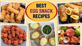 Easy Egg Snack Recipes  Egg 65  Egg Chilli  Egg Fingers  Egg Roll  Egg Lollipop  Egg Fingers