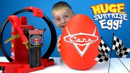 Disney Cars Play-Doh Surprise Egg With Disney Cars Toys And Lightning Mcqueen
