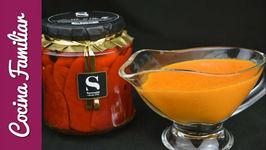 Salsa casera de tomate con pimientos del piquillo
