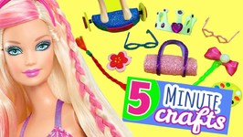 DIY Miniature Hairdorable Inspired Barbie Dollhouse Accessories