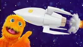 Fuzzy in Outer Space! Planets, Sun, Moon, Earth and Stars - Solar System - Fun Learning