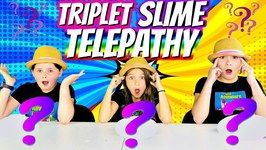 Triplet  Twin Telepathy Slime Challenge! Mystery Slime Edition!
