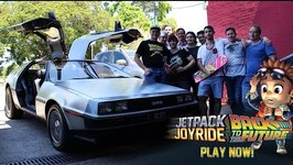 DeLorean Time Machine visits Halfbrick Jetpack Joyride- Back to the Future