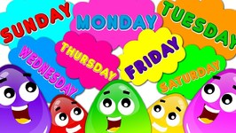 Days Of The Week Song - Learn With Crazy Eggs - Nursery Rhymes And Baby Songs