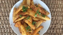 Masala Potatoes - Easy 10 Min Side Dish - Snack Ideas