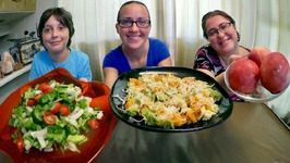 Cheesy Tortellini With Brown Butter, Peaches And Salad -Gay Family Mukbang - Eating Show