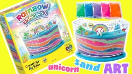 Rainbow Sandland Craft Kit Unboxing and Review! Unicorn Sand Art for Kids