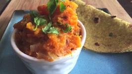 Kaddu Sabzi Punjabi Style Recipe - Butternut Squash - Hindi