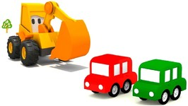 Excavator Max and 4 Cars- Car Cartoon and Kids Games