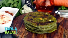 Stuffed Spinach Paratha