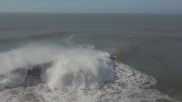 Drone Footage Captures View of Gigantic Waves in Nazare
