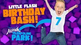 Little Flashs Birthday Party Vlog Kids Indoor Trampoline Playground