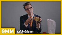 Man Eats Peanut Butter