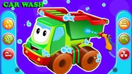 Dump Truck - Car Wash Videos - Street Vehicle Cartoons For Kids