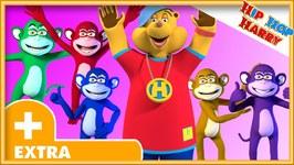 Five Little Monkeys - 3D Animated