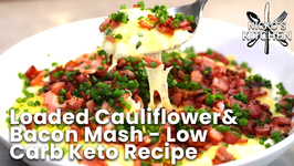 Loaded Cauliflower And Bacon Mash  - Low Carb Keto Recipe