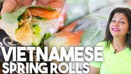 Smoked Salmon Vietnamese Rolls - Easy Fresh Healthy No Cook