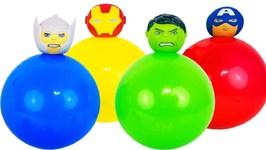 Marvel Avengers Superhero Balloon Pop Learn Colors Surprise Toys Kids