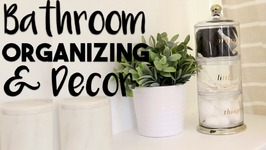 Bathroom Organization and Decorating Hacks  Making the MOST of our Small Bathroom