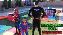 SLIME and GELLI BAFF CHALLENGES - SUPERHEROES - SMASHERS