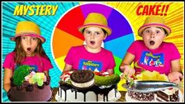 MYSTERY WHEEL of CAKE CHALLENGE!