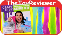 Karina Garcia Craft City DIY Official Make Your Own Slime Kit Unboxing Toy Review