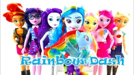 New Rainbow Dash MLP Equestria Girls Fashion Doll and Flip And Flow Seapony