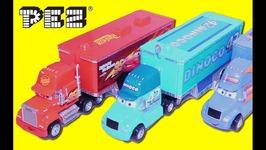 DISNEY CARS 3 -Truck Hauler Game - DIY PEZ CANDY Mack Dispenser with Surprise Toys for Kids