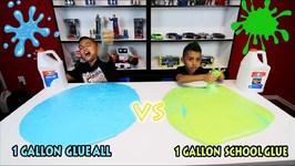 1 GALLON ELMERS GLUE ALL vs 1 GALLON ELMERS SCHOOL GLUE REVIEW - Which Glue makes better Slime