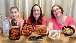 Korean Food Feast - Korean Popcorn Chicken, Kimbap And Jajangmyeon -Gay Family Mukbang