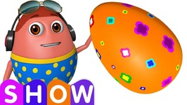 Learn ORANGE Colour with Johny Johny Yes Papa - Surprise Eggs Colours Ball Pit Show - ChuChuTV 3D