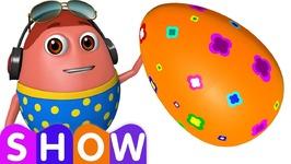 Learn ORANGE Colour with Johny Johny Yes Papa - Surprise Eggs Colours Ball Pit Show - ChuChuTV 3D