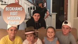 The Beckhams Have Fun On The Set Of Modern Family