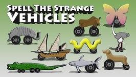 Spell The Strange Vehicles 1 - Funny Vehicle Spelling For Children