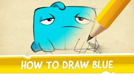 How to Draw Blue from Cut the Rope 2